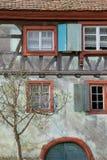 ecomusee的半木料半灰泥的房子在阿尔萨斯 免版税库存照片