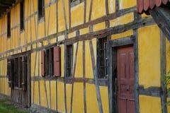 ecomusee的半木料半灰泥的房子在阿尔萨斯 免版税图库摄影