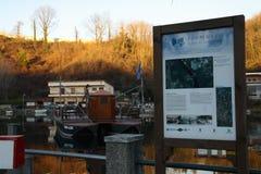 Ecomuseum Leonardo`s Ferry Royalty Free Stock Photo