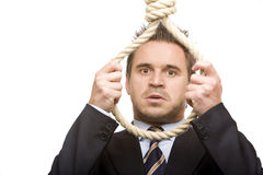 Free Econimic Crisis Force Business Man To Suicide Stock Photography - 11849062