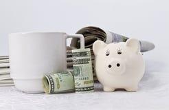 Economía americana en las noticias fotografía de archivo libre de regalías