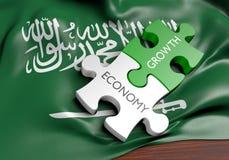 Economía de la Arabia Saudita y concepto del crecimiento del mercado financiero libre illustration