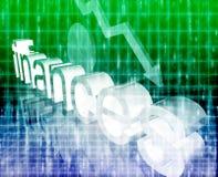 Economía de las finanzas que empeora concepto Fotos de archivo libres de regalías