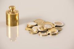 Economía de las monedas Fotos de archivo libres de regalías