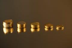 Economía de las monedas Fotos de archivo