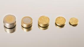 Economía de las monedas Imagen de archivo