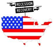 Economía de los E.E.U.U. Imágenes de archivo libres de regalías