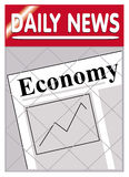 Economía de los periódicos Imagen de archivo libre de regalías