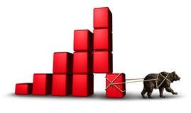 Economía del oso stock de ilustración