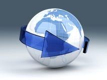 Economía global ilustración del vector