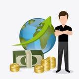 Economía global, dinero y negocio Fotografía de archivo