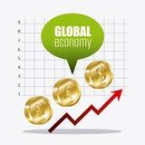 Economía global, dinero y negocio Imágenes de archivo libres de regalías