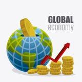 Economía global, dinero y negocio Fotografía de archivo libre de regalías