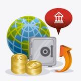 Economía global, dinero y negocio Foto de archivo libre de regalías