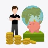 Economía global, dinero y negocio Fotos de archivo libres de regalías