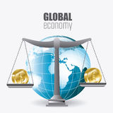 Economía global, dinero y negocio Imagenes de archivo