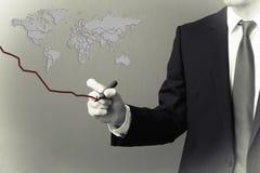 Economía mundial en la disminución Fotos de archivo