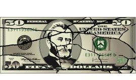 Economía quebrada stock de ilustración