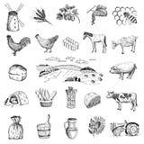 Economía rural ilustración del vector