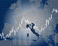 Economía y finanzas de Italia Foto de archivo libre de regalías