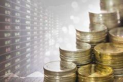 Economía y mercado de acción fotos de archivo