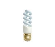 Econom Lighting Bulb 3d render on white background no shadow Stock Photos