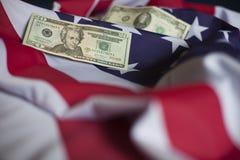 Economía americana Imágenes de archivo libres de regalías
