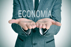 Economia, οικονομία στα ισπανικά Στοκ φωτογραφία με δικαίωμα ελεύθερης χρήσης