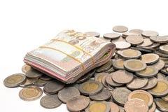 Economia da moeda do baht tailandês Fotografia de Stock Royalty Free