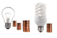 Economia de energia Fotos de Stock