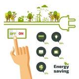 Economia de energia Ilustração do Vetor