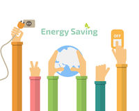 Economia de energia Fotografia de Stock