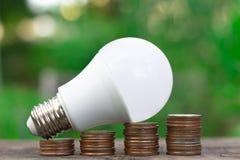 Economia de energia do conceito imagens de stock