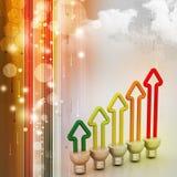 Economia de energia fluorescente Fotos de Stock Royalty Free