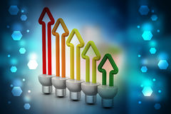 Economia de energia fluorescente Fotografia de Stock