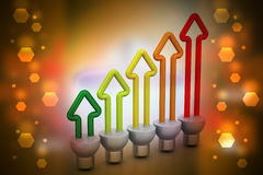 Economia de energia fluorescente Foto de Stock