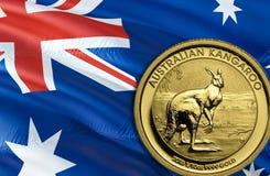 Economia del dollaro australiano per l'affare e l'illustrazione finanziaria di idee di concetto, fondo Concetto con il dollaro au immagini stock libere da diritti