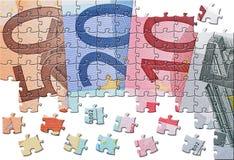 Economia dell'euro delle banconote Fotografia Stock