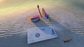 Economia di estate Immagini Stock Libere da Diritti