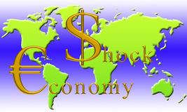 Economia di scossa Fotografia Stock