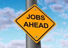 Economia di simbolo del segno di occupazione di job Fotografie Stock