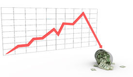 Economia do diagrama Fotografia de Stock Royalty Free