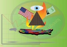 A economia do Estados Unidos ilustração royalty free