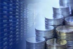 Economia e mercado de valores de ação imagem de stock