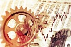 Economia e mercado de valores de ação ilustração stock