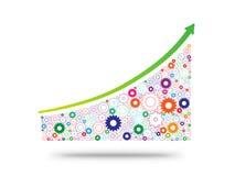 Economia ed industria crescenti rappresentate dagli ingranaggi Fotografia Stock Libera da Diritti