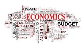 A economia etiqueta a nuvem Imagem de Stock Royalty Free