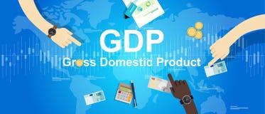 Economia finanziaria dell'illustrazione del prodotto interno lordo del P.I.L. Fotografie Stock Libere da Diritti