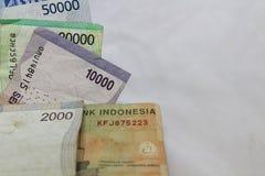 Economia finanziaria di affari di cambio della rupia indonesiana Fotografie Stock Libere da Diritti