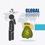 Economia global, dinheiro e negócio Imagens de Stock